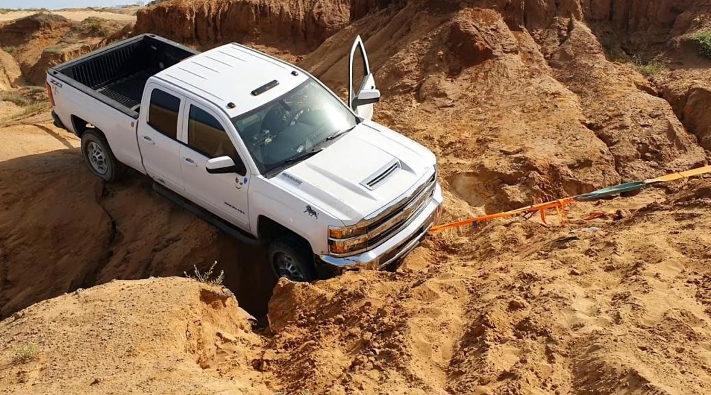 חילוץ רכב בשיפוע צד